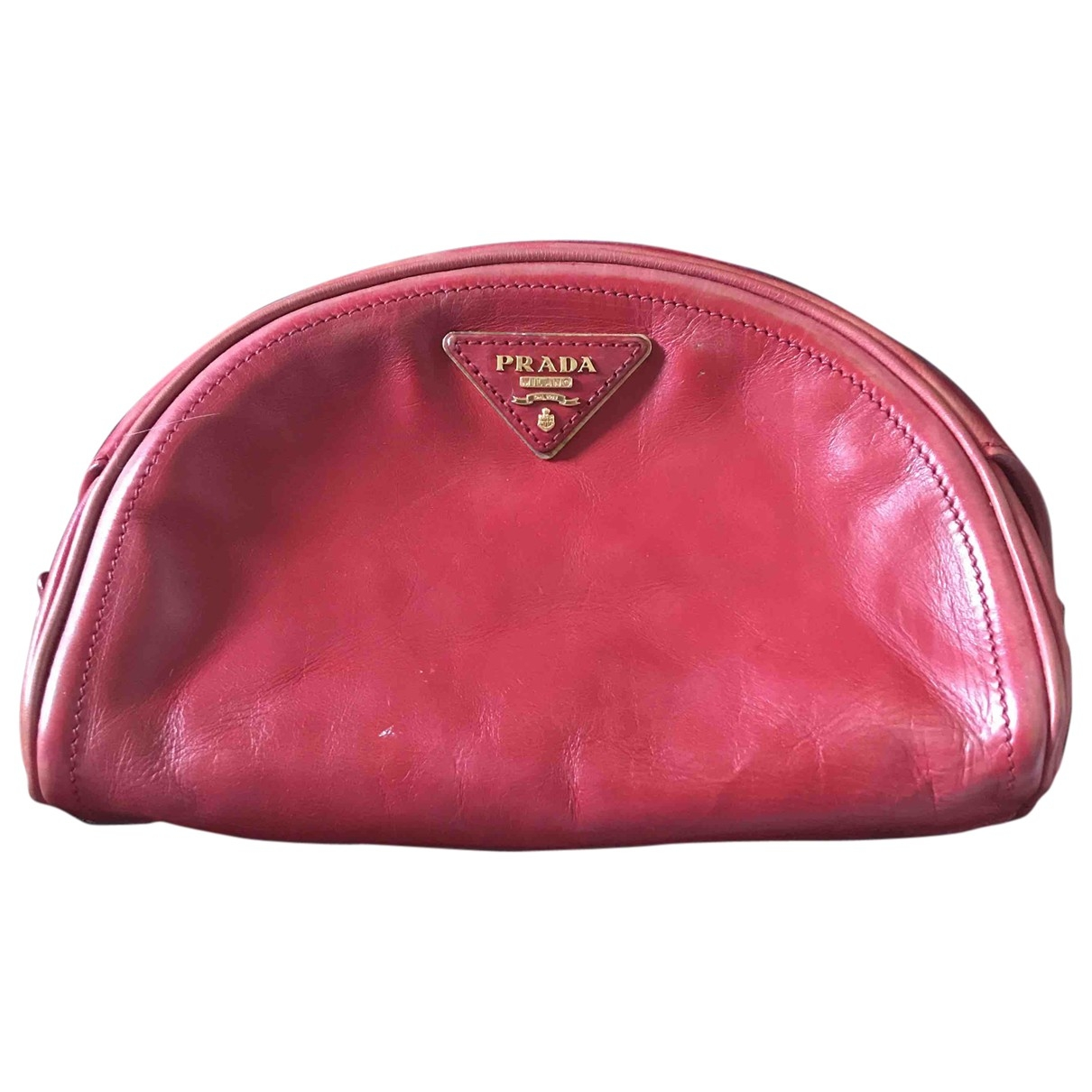 Prada \N Clutch in  Rot Leder