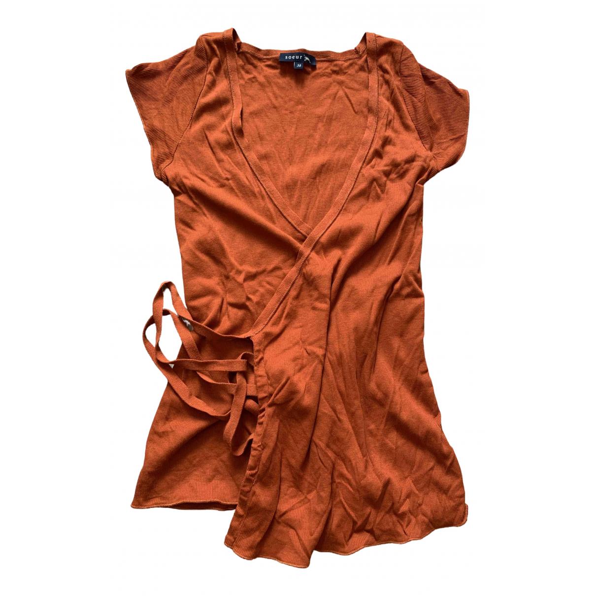 Soeur - Top   pour femme en coton - orange