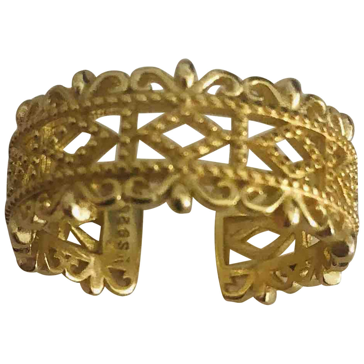 Non Signe / Unsigned \N Ring in  Gold Silber