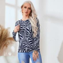 Zebra Striped Pullover