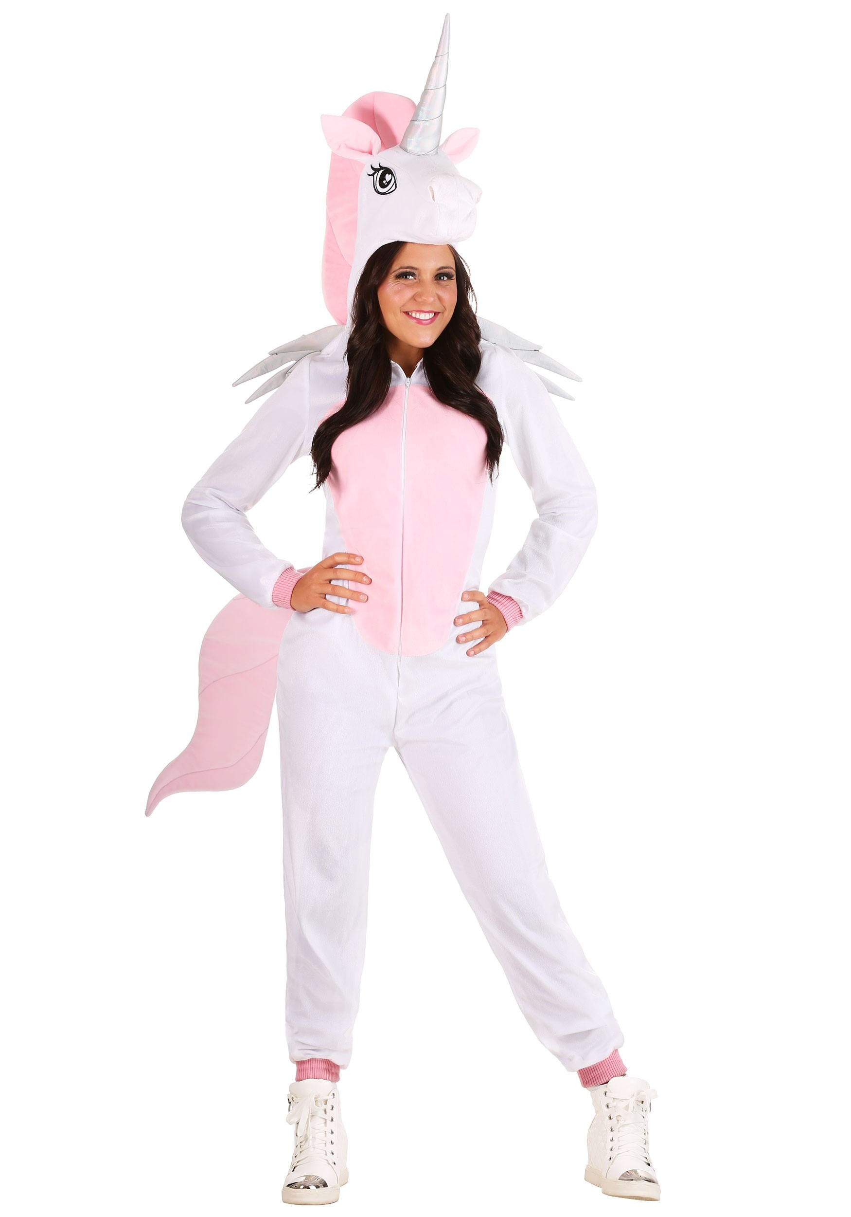 Adult Jumpsuit Costume Unicorn   Exclusive W/ Hooded Jumpsuit