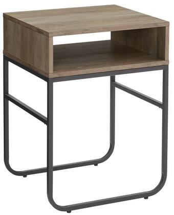 AF18NAOSTGW 18 Curved Metal Leg Side Table in Grey