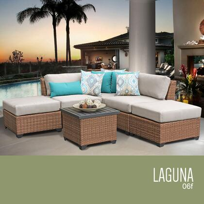 LAGUNA-06f-BEIGE Laguna 6 Piece Outdoor Wicker Patio Furniture Set 06f with 2 Covers: Wheat and