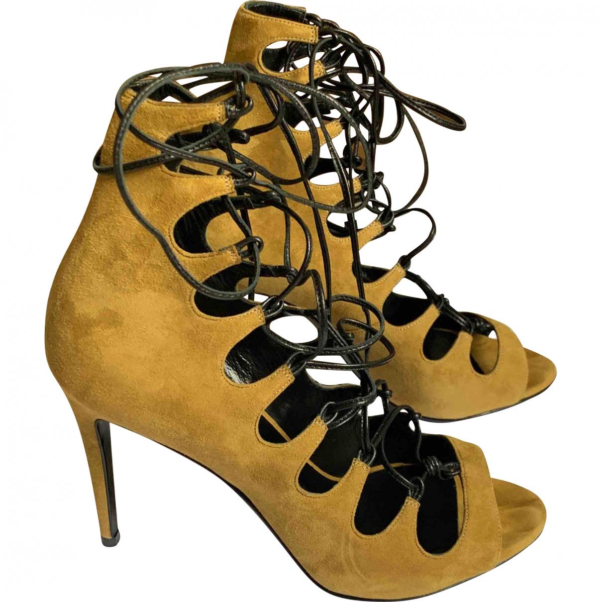 Pierre Hardy \N Camel Suede Sandals for Women 37 EU