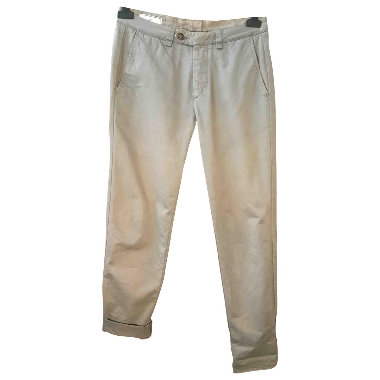 Ami \N Grey Cotton Trousers for Men XS International