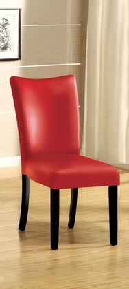 Belliz Collection CM3176RD-SC-2PK Set of 2 Leatherette Parson Side Chair in