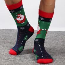 Maenner Weihnachten Socken mit Weihnachtsmann Muster