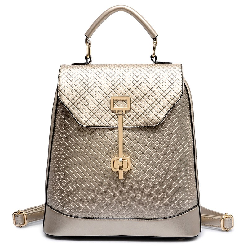 Ericdress Classic Quilted Lining Design PU Backpack
