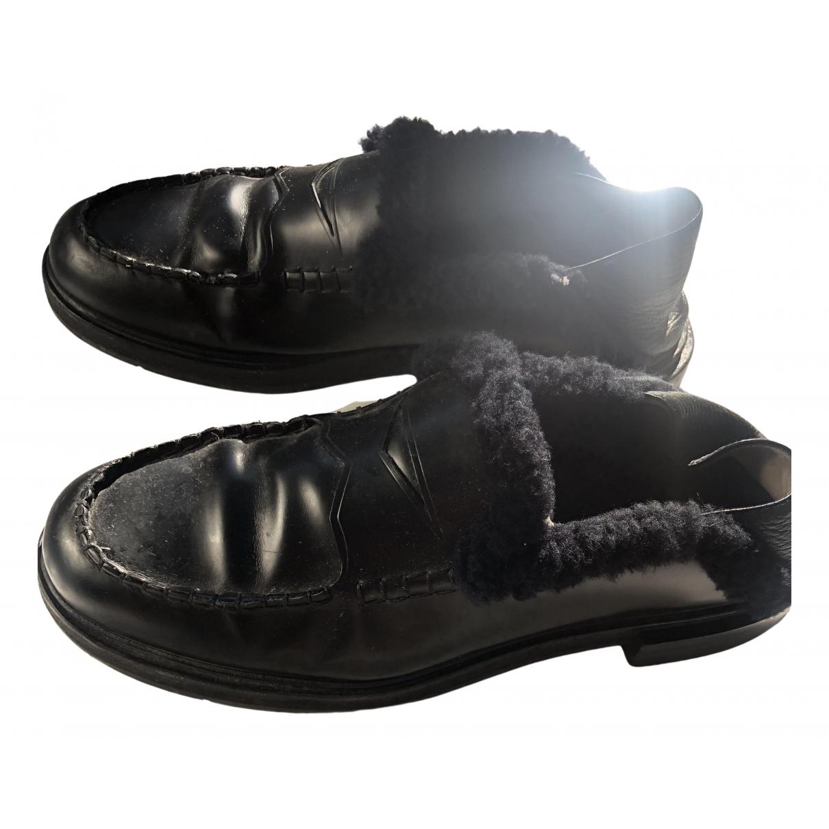 Fendi - Sandales   pour homme en cuir - noir