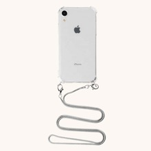 1pc Clear iPhone Case With 1pc Chain Lanyard