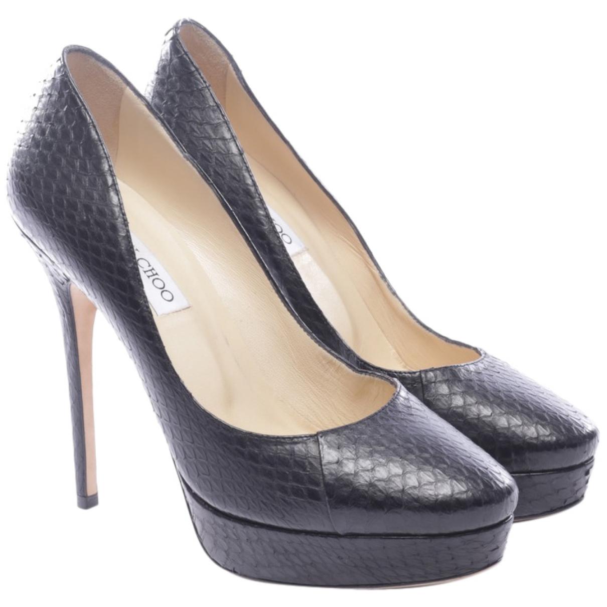 Jimmy Choo \N Black Leather Heels for Women 40 EU