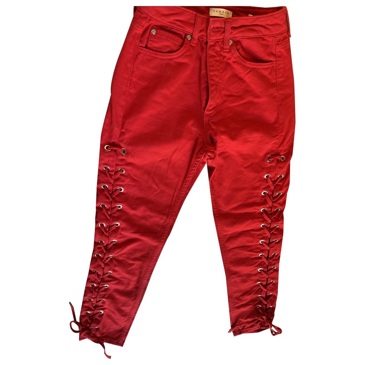Sandro \N Hose in  Rot Baumwolle