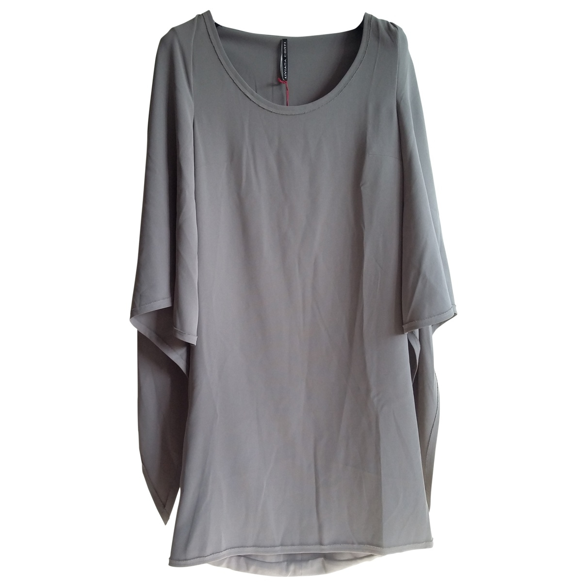 Liviana Conti \N Kleid in  Grau Polyester