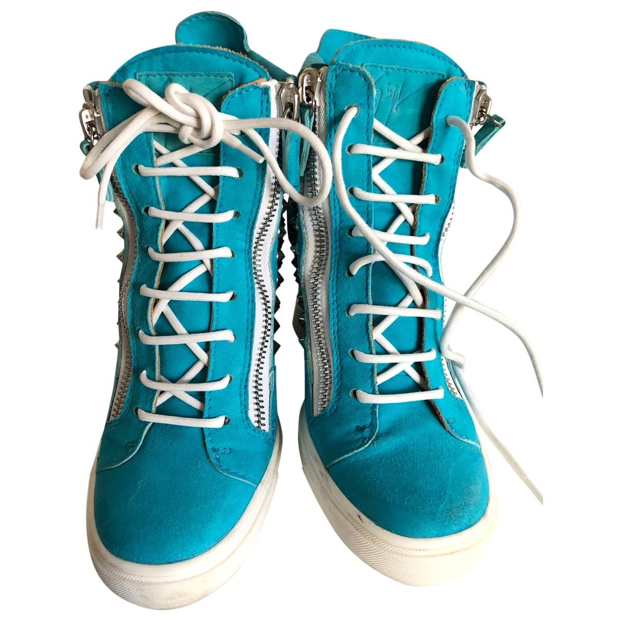 Giuseppe Zanotti - Baskets   pour femme en suede - marine