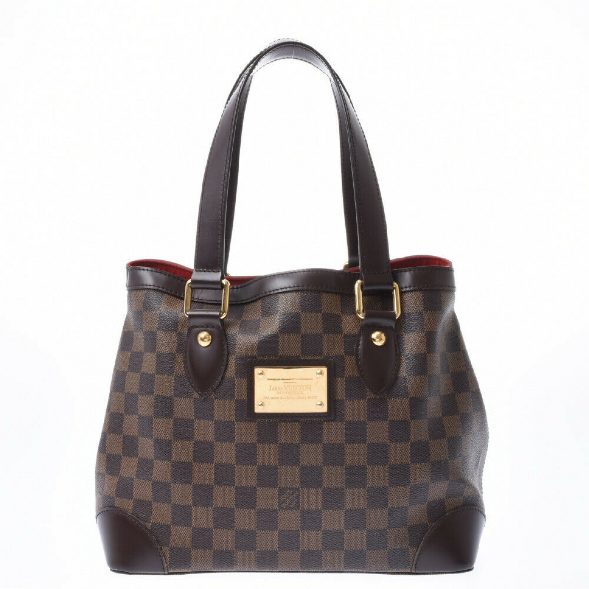 Louis Vuitton - Sac a main Hampstead pour femme en toile - marron