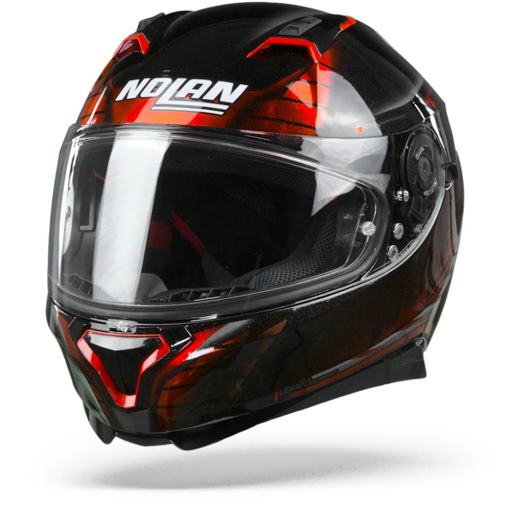 Nolan N87 Aulicus 81 Metal Casco Integral Negro Rojo M