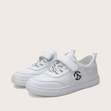 Boys Velcro Strap Low Top Skate Shoes