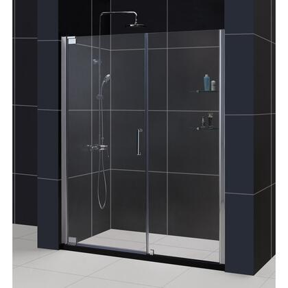 SHDR-4152720-04 Elegance 52 3/4 - 54 3/4 In. W X 72 In. H Frameless Pivot Shower Door In Brushed