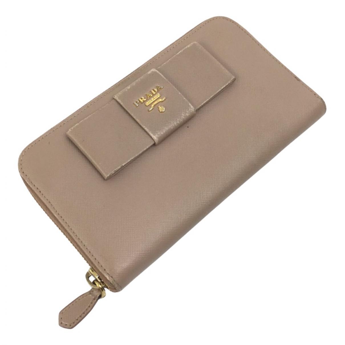 Prada N Brown Leather wallet for Women N