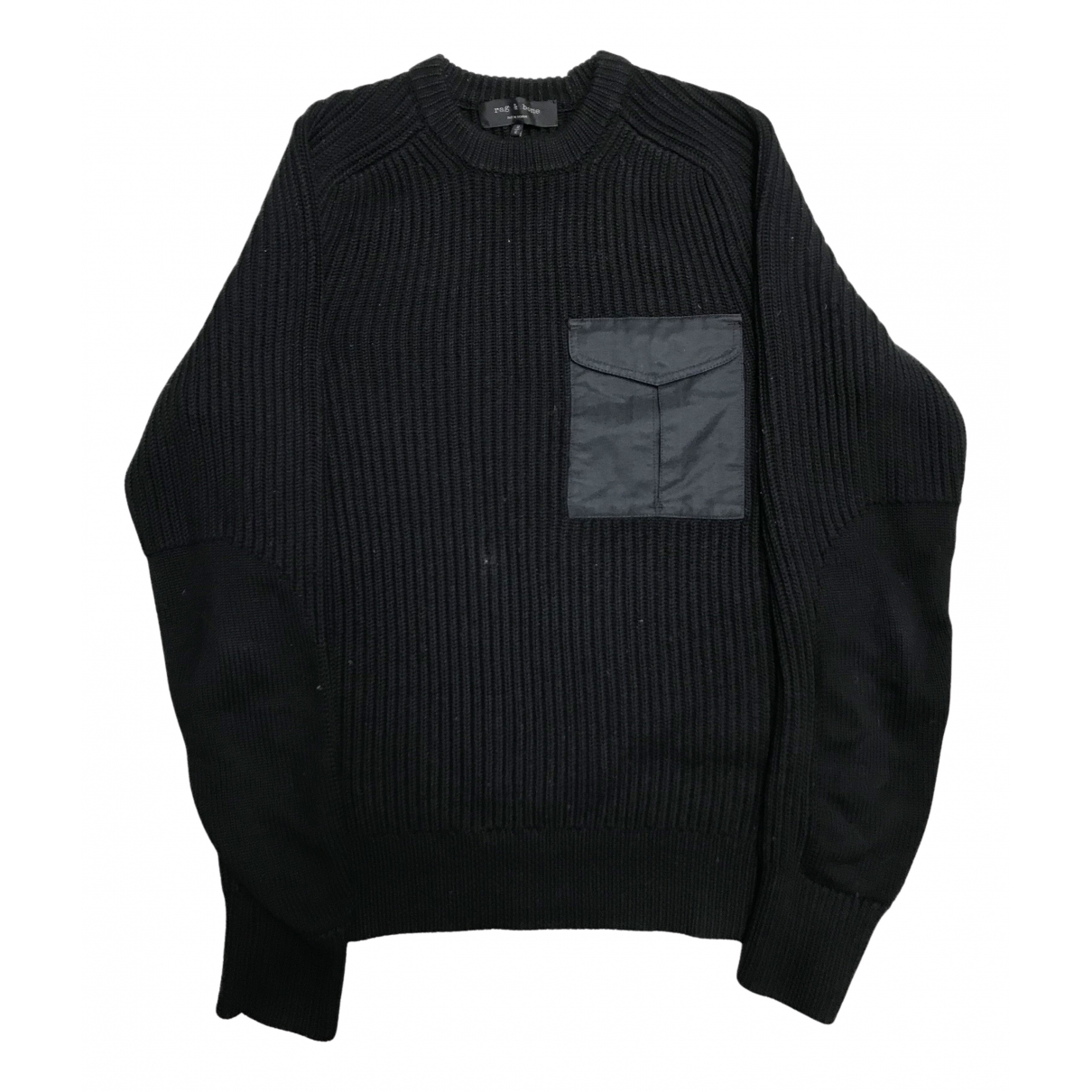 Rag & Bone \N Pullover.Westen.Sweatshirts  in  Schwarz Baumwolle