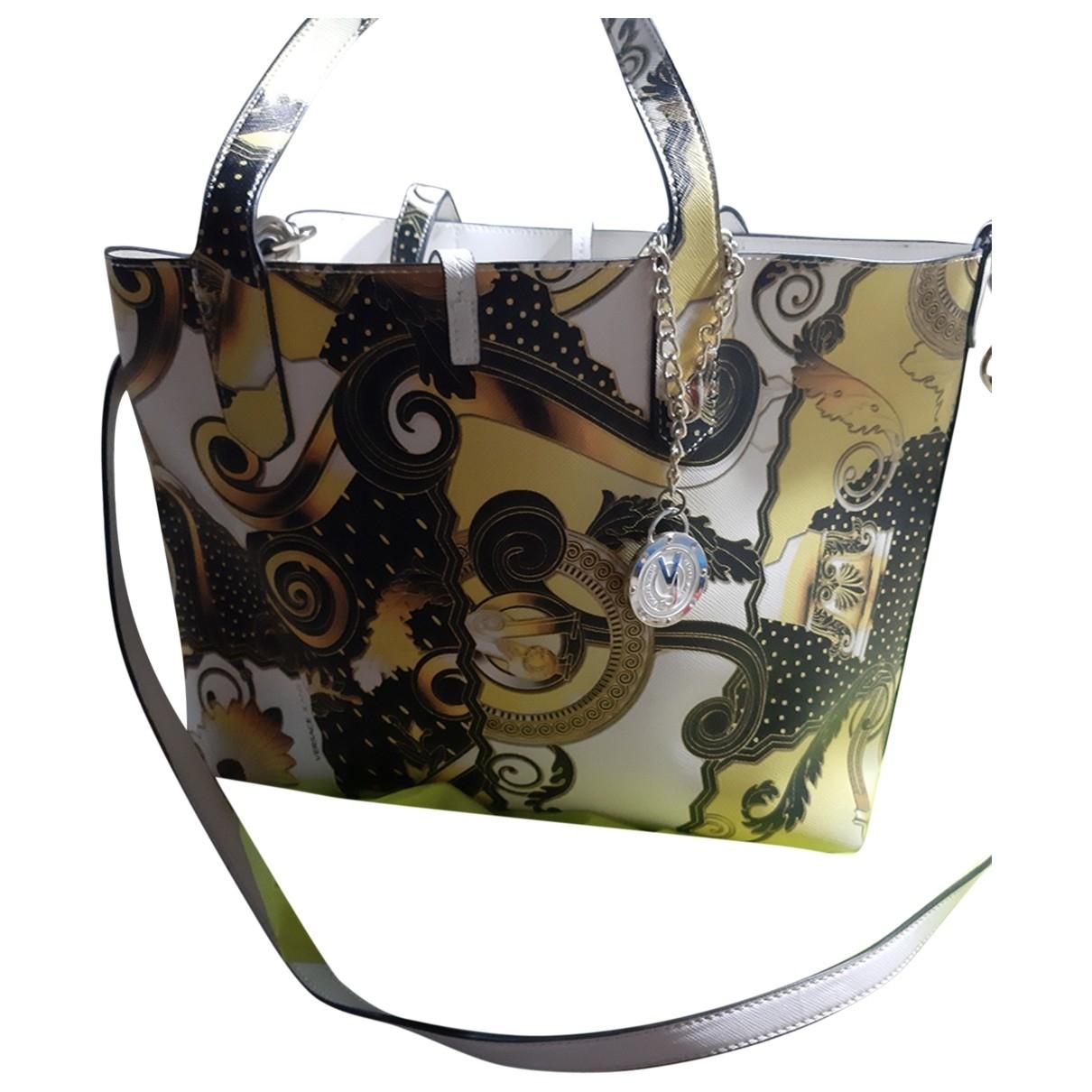 Versace Jeans \N Handtasche in  Gelb Leinen