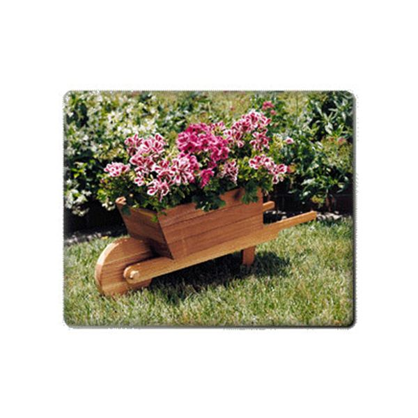Woodworking Project Paper Plan to Build Wheelbarrow Planter, Plan No. 879