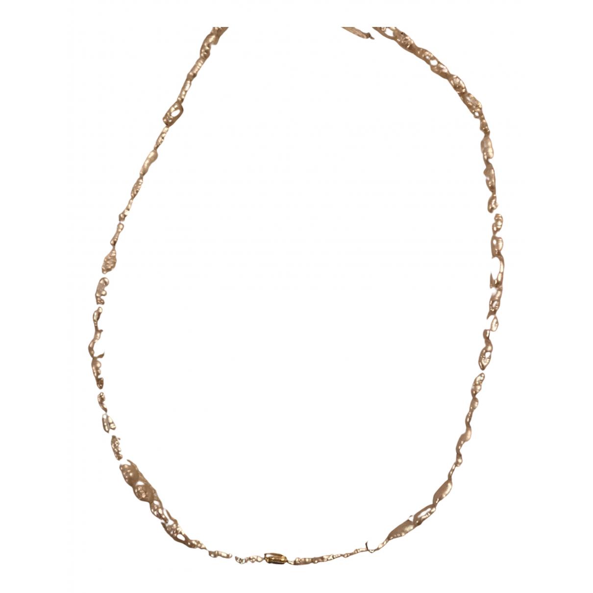 Non Signe / Unsigned Nacre Kette in  Gold Silber