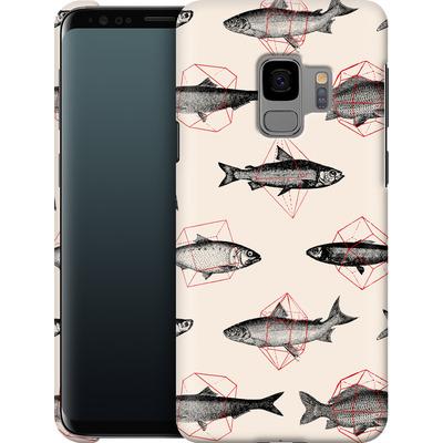 Samsung Galaxy S9 Smartphone Huelle - Fishes in Geometrics von Florent Bodart