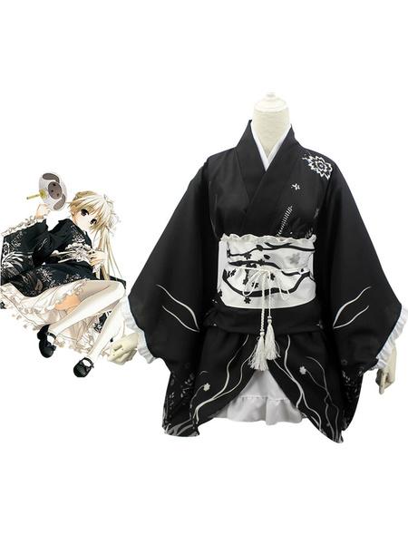 Milanoo Yosuga No Sora Sora Kasugano Cosplay Costume Kimono Version Halloween