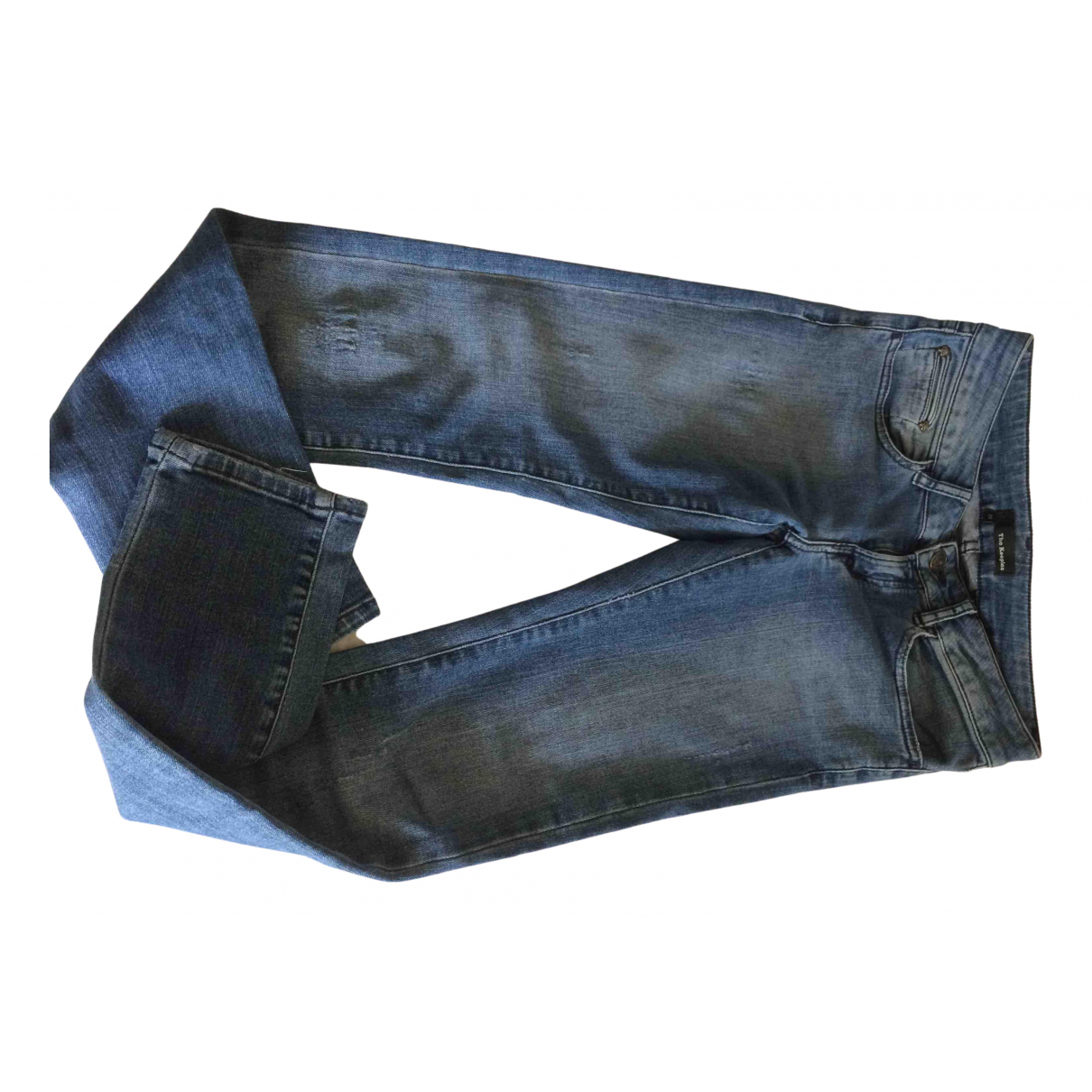 The Kooples N Blue Cotton - elasthane Jeans for Women 34 FR