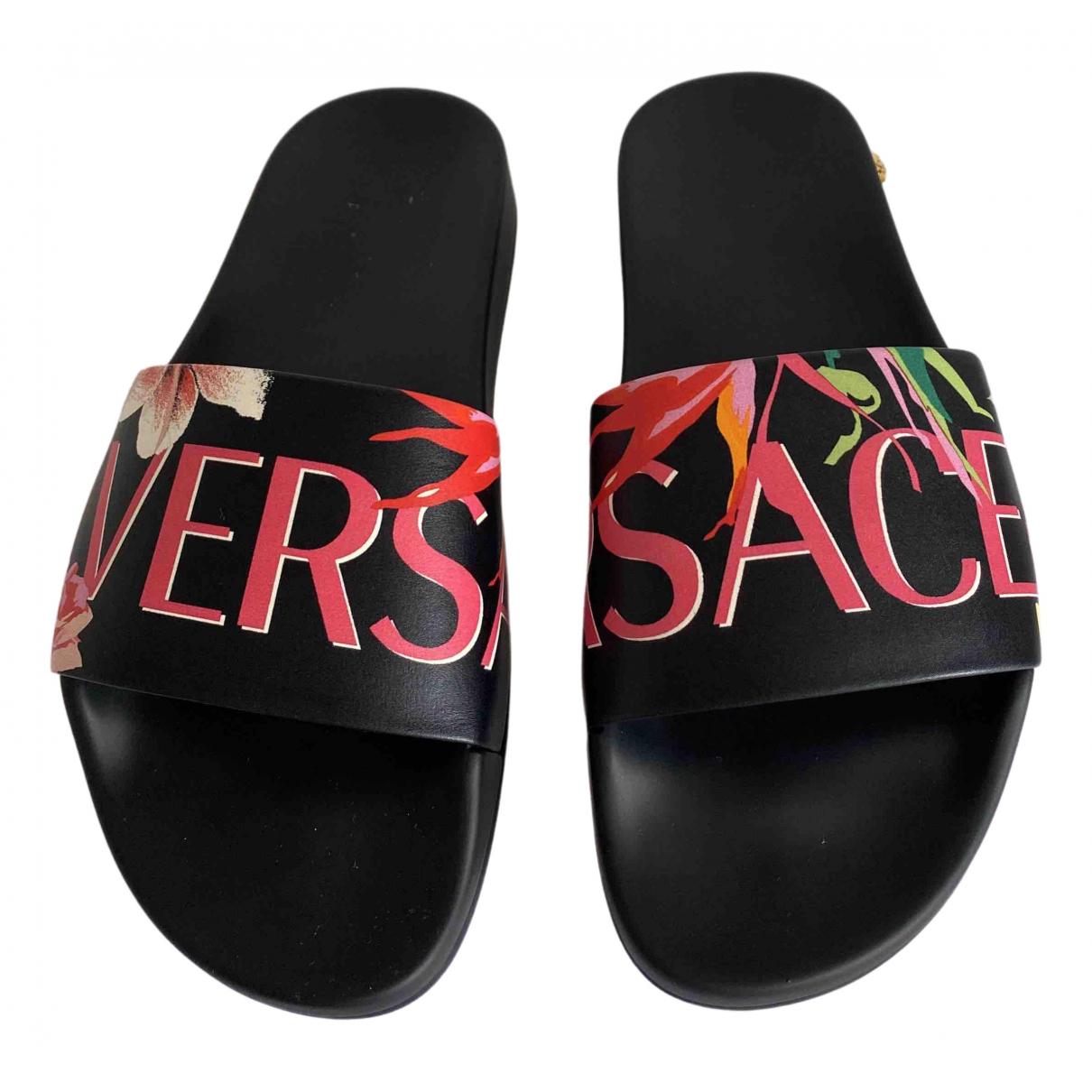 Versace - Sandales   pour femme en caoutchouc - multicolore