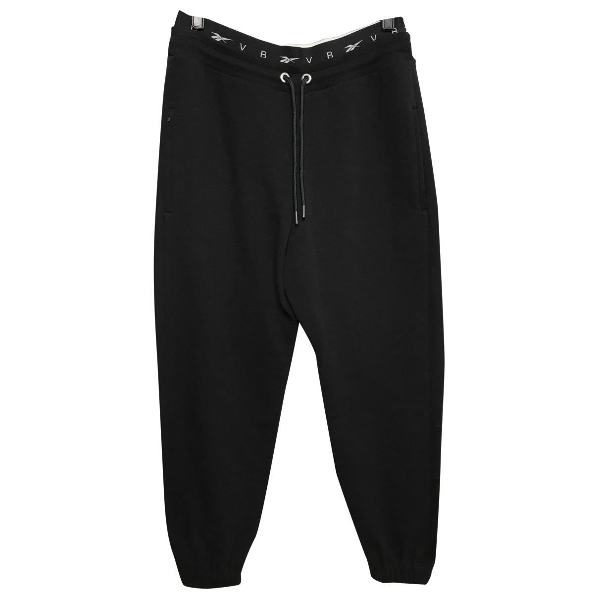 Reebok \N Black Cotton Trousers for Women M International
