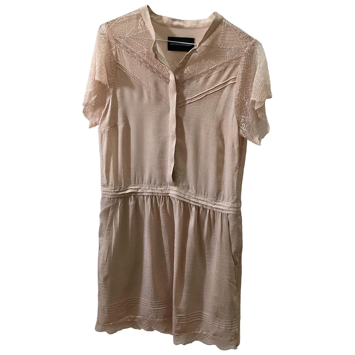 Zadig & Voltaire - Robe   pour femme en soie - rose