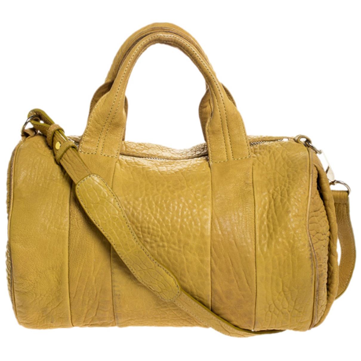 Alexander Wang \N Handtasche in  Gelb Leder
