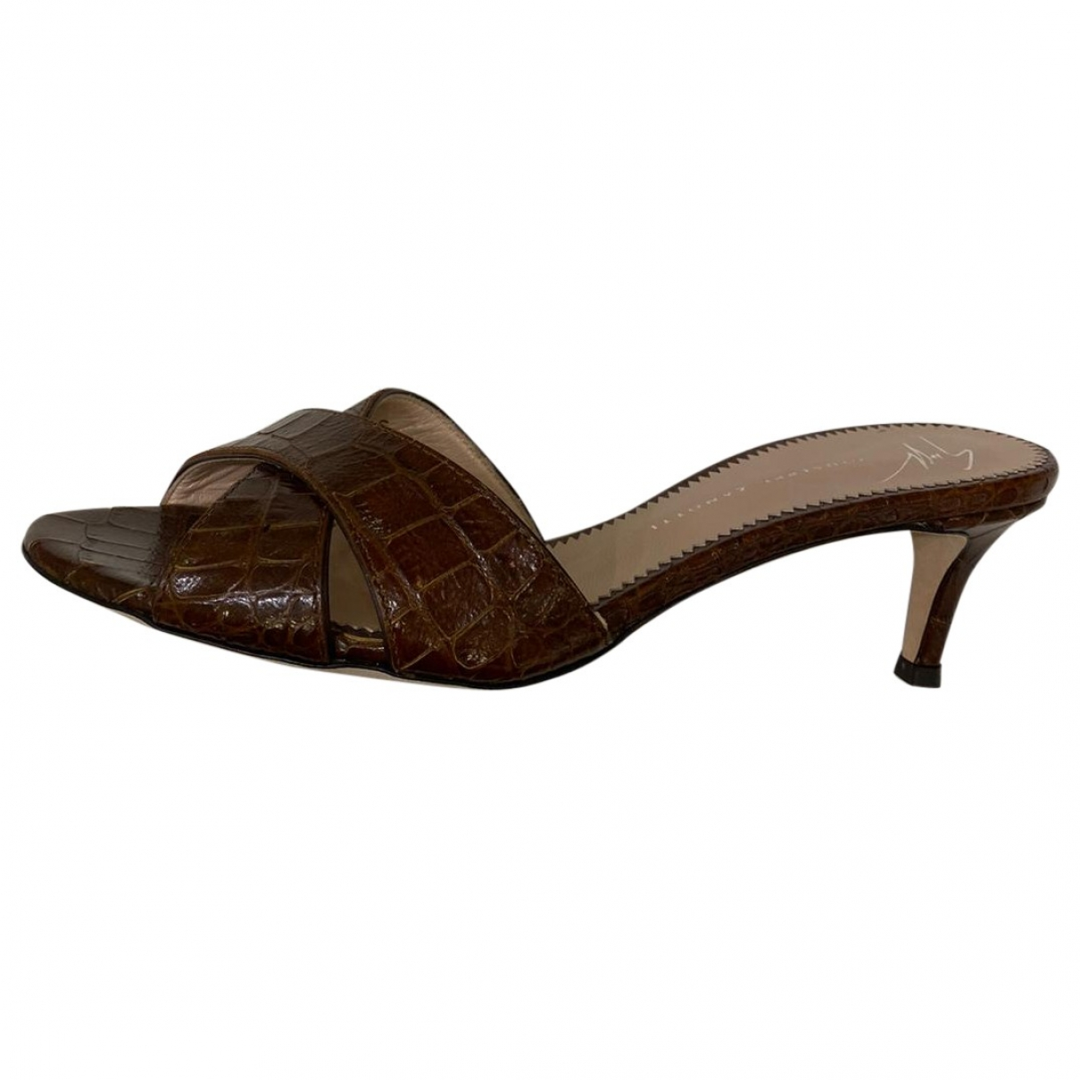 Giuseppe Zanotti \N Brown Leather Sandals for Women 36 EU