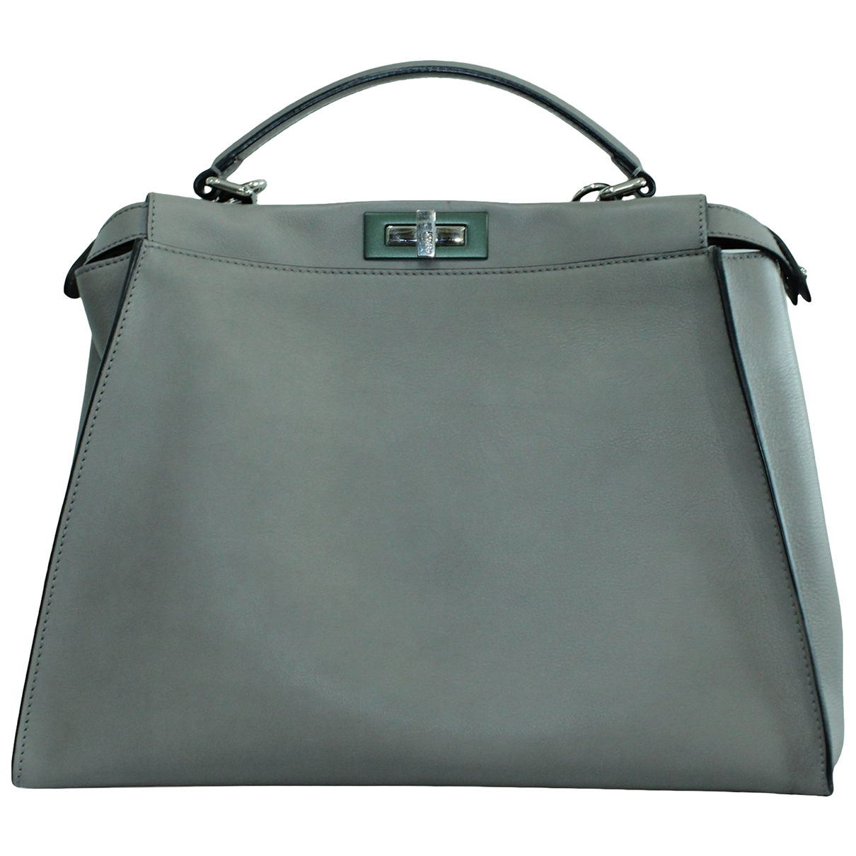 Fendi Peekaboo Grey Leather handbag for Women \N