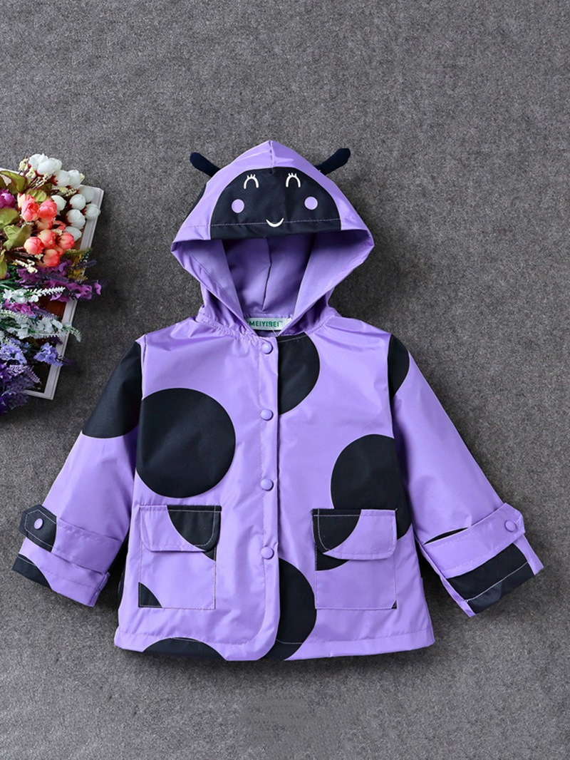 Ericdress Long Sleeve Bee Hooded Girl's Outerwears