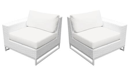 Miami TKC047b-LRAS Left Arm Chair and Right Arm Chair - 1 Sail White