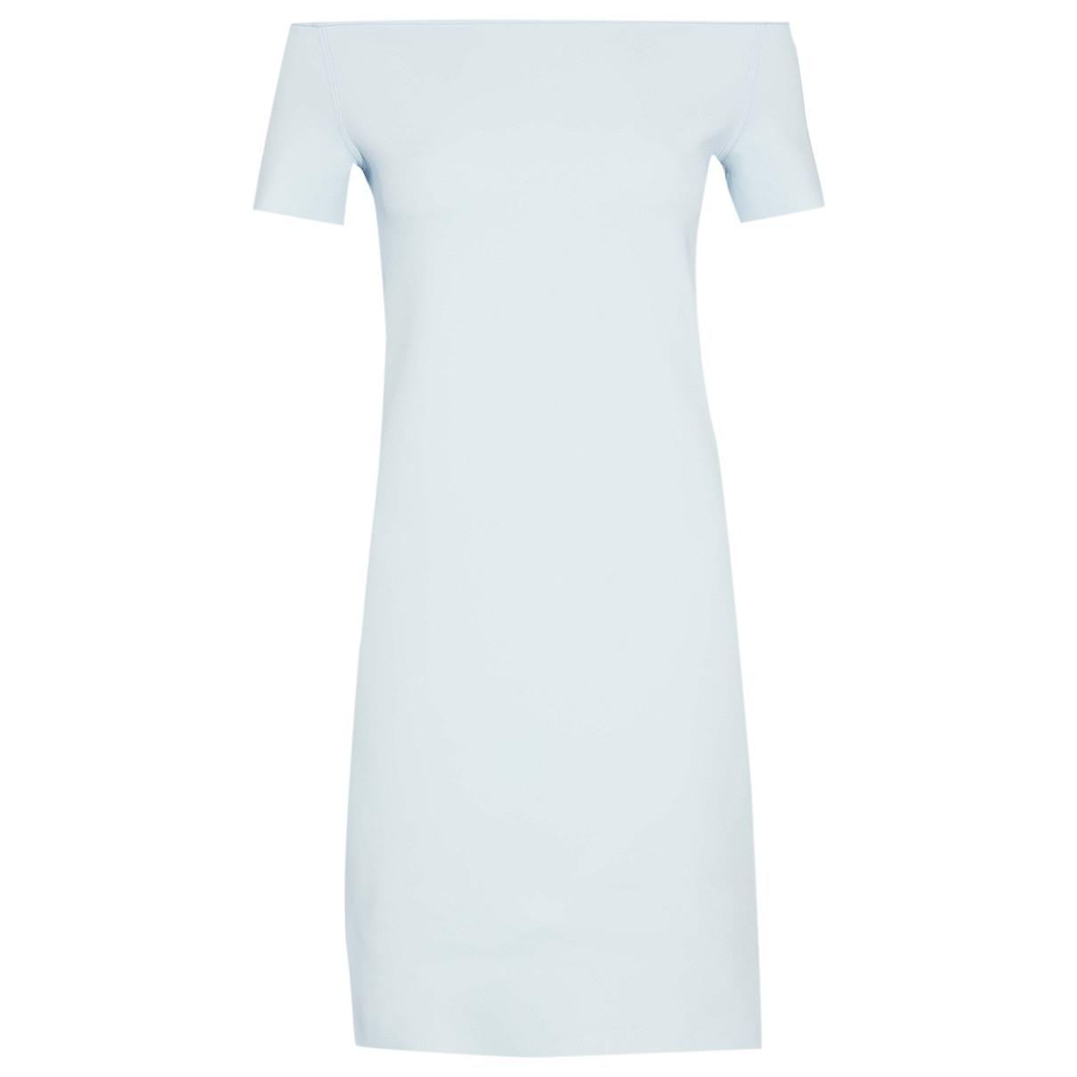 Helmut Lang \N Kleid in  Blau Synthetik