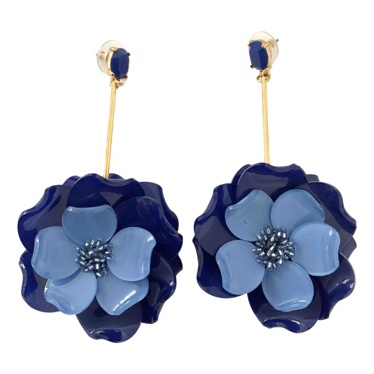 Oscar De La Renta - Boucles doreilles   pour femme - bleu