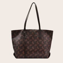 Allover Horse Print Tote Bag