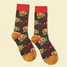 Halloween Pumpkin Pattern Socks