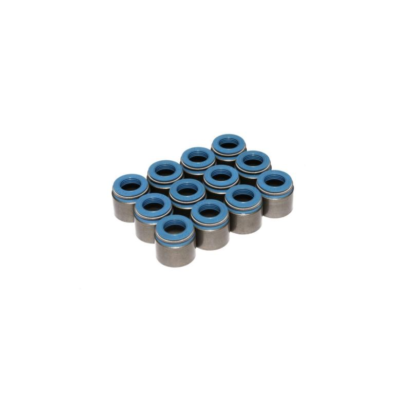 COMP Cams Set of 12 Metal Body Viton Valve Seals for .530 Guide Size, 11/32 Valve Stem