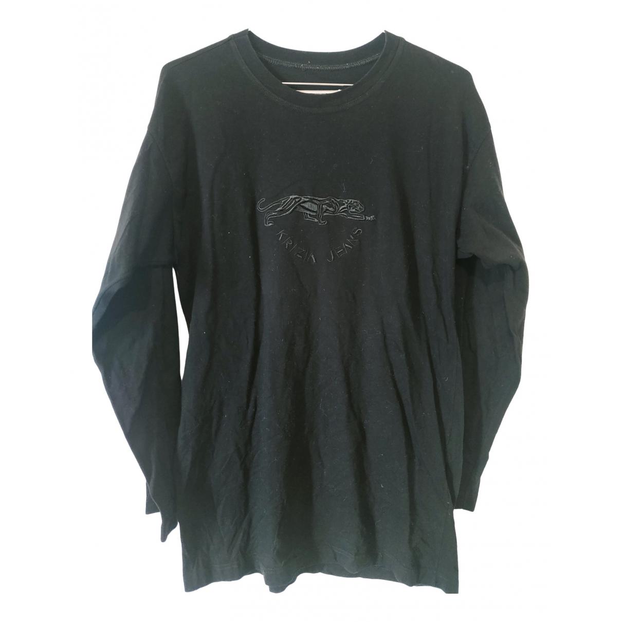 Krizia \N Pullover.Westen.Sweatshirts  in  Schwarz Baumwolle