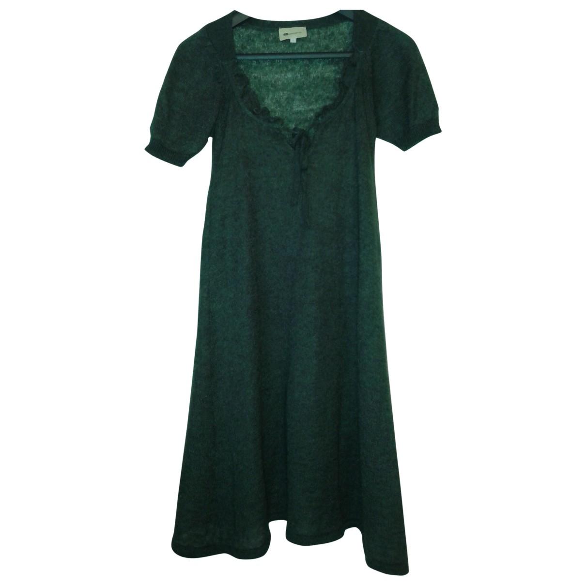 Vanessa Bruno \N Kleid in  Gruen Wolle