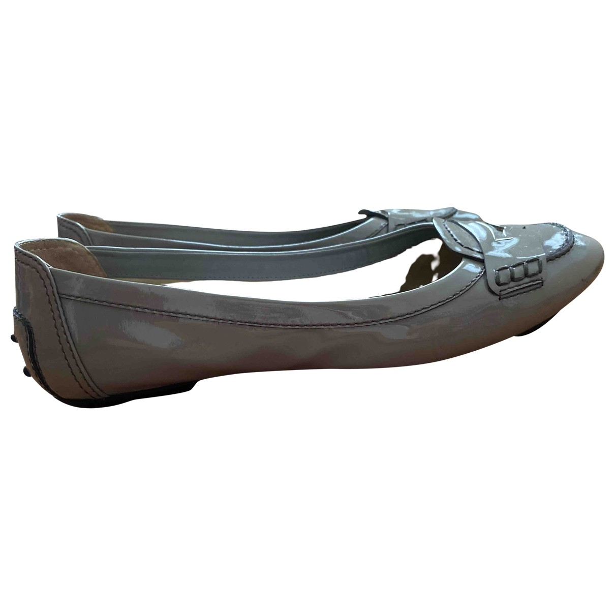 Tod's \N Grey Patent leather Ballet flats for Women 39 EU