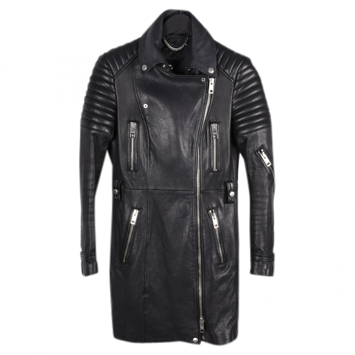 Burberry \N Black Leather jacket for Women 42 IT