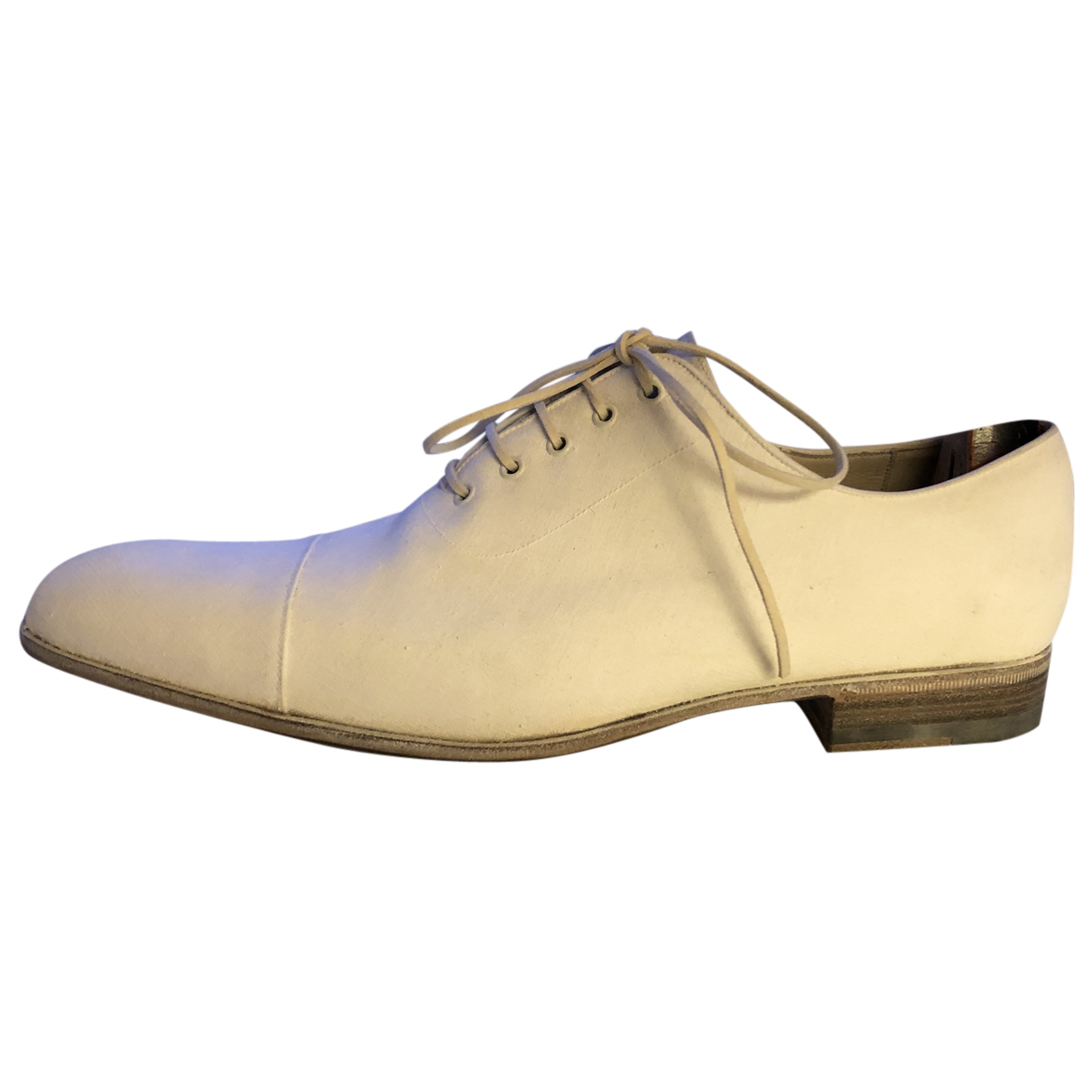 Gucci N White Leather Lace ups for Men 41 EU
