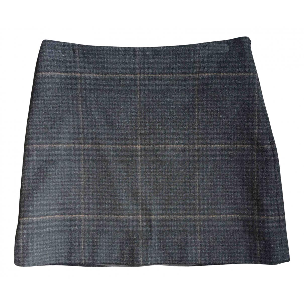 Vanessa Bruno Athe N Grey Wool skirt for Women 34 FR