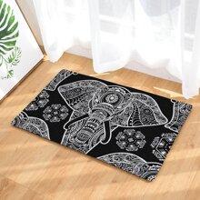 Elephant Print Carpet